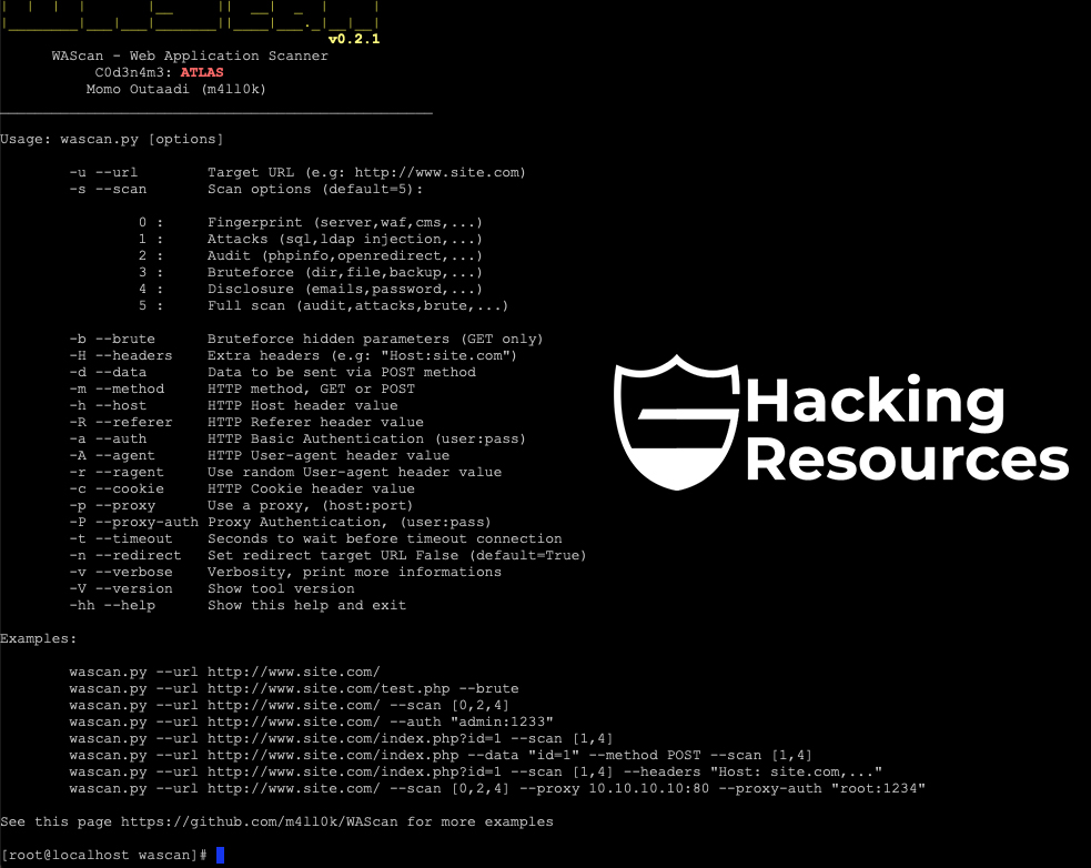 WAScan - Web Application Scanner - CyberSecurity