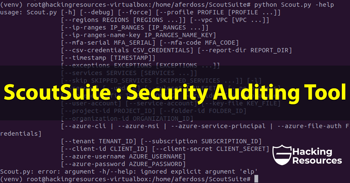 ScoutSuite : Security Auditing Tool - CyberSecurity