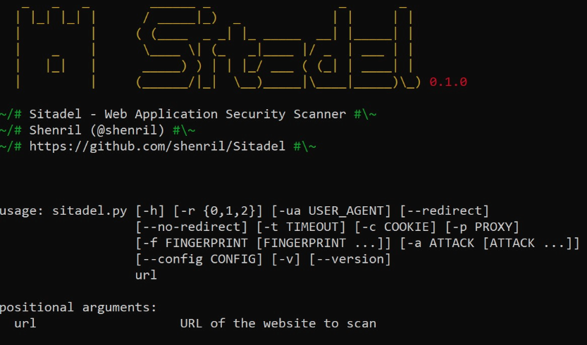 Sitadel - Web Application Security Scanner - CyberSecurity